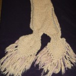 Hooded Scarf, 100% suri alpaca yarn, hand knit by Annette's Knits