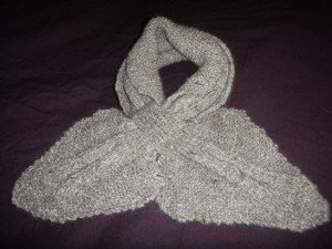 skully raptor grey alpaca scarf