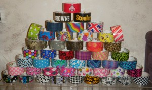 9-17-12 pyramid of print duck tape