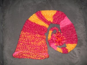 pink and orange full size fairy hat