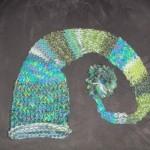 toddler blue green elf hat